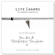 Life Charms Delightful Daughter Silver Plated Bracelet
